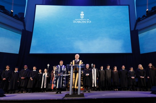 Chancellor Peterson at Boundless, the Campaign for the University of Toronto