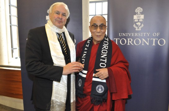 Chancellor Peterson and the Dalai Lama