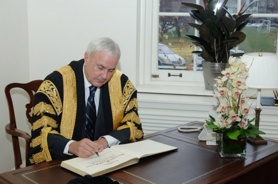 Chancellor Peterson at his Installation