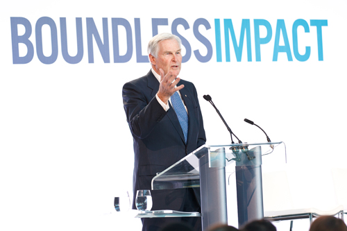 U of T Chancellor Michael Wilson speaks at Boundless Campaign Milestone Event