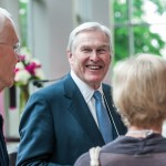 Chancellor Wilson mingles with Rotman Commerce alumni
