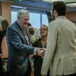 Chancellor Wilson mingles with alumni in Tel Aviv